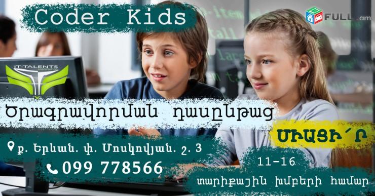 CODER-KIDS (Ծրագրավորում Դպրոցական երեխաների համար)