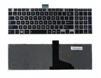 Keyboard toshiba satellite l850 l855 l870 with frame new