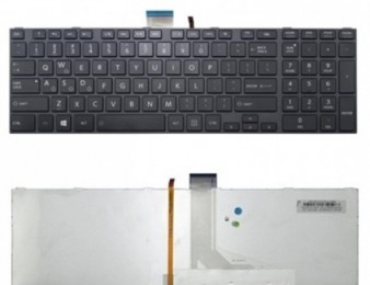 Keyboard toshiba satellite c850, c855, c870, l850, l855, l870 series (with backlit) new