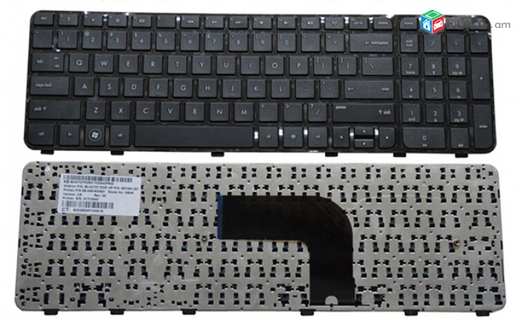 KEYBOARD HP PAVILION DV6-7000, DV6-7100, DV6-7200 (WITH FRAME) SERIES NEW