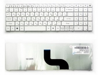 Acer aspire 5551, 5625, 5736, 5742, 5820, 7540 series (white) new keyboard