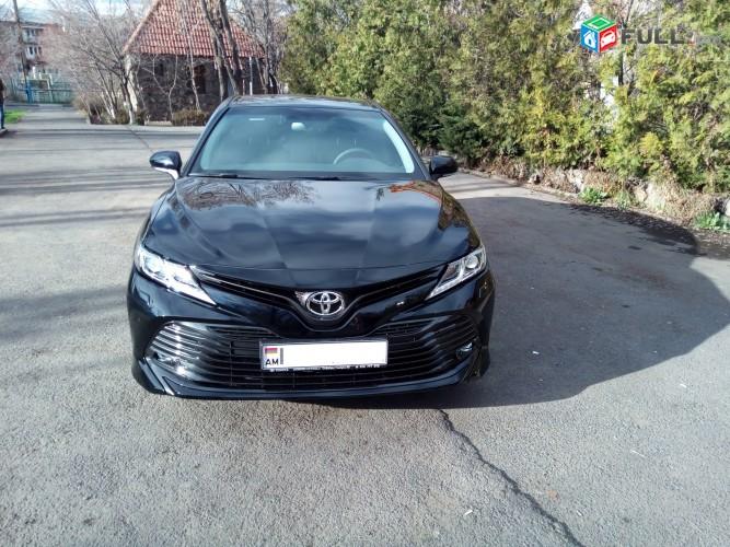 Rent a car. prakat TOYOTA CAMRY 2018 tiv avtomat poxancman tup aranc varord