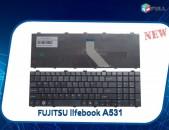Keyboard  Fujitsu Lifebook A531 AH530 AH531 NH751 klaviatura stexnashar клавиатурa ստեղնաշար