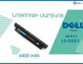 Battery Dell Inspiron 15-5521- Նոր Akumliator batareyka martkots մարտկոց ակումլյատոր notebooki notbuki martkoc аккумулятор нотбука