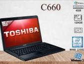 "Toshiba C660 notebook laptop նոթբուք Core i5 / RAM-4GB / SSD-120 GB / 15,6""- օգտագործած"