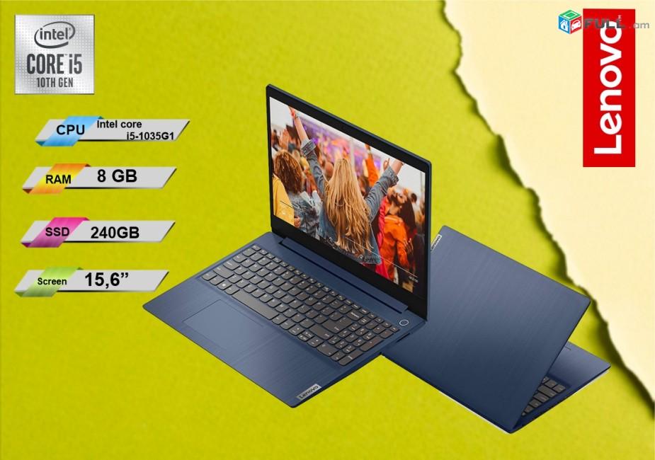 Lenovo  Notebook  10-րդ սերունդ core i5 1035G1 1,19Ghz / RAM 8GB / SSD 240 /Display 15,6''