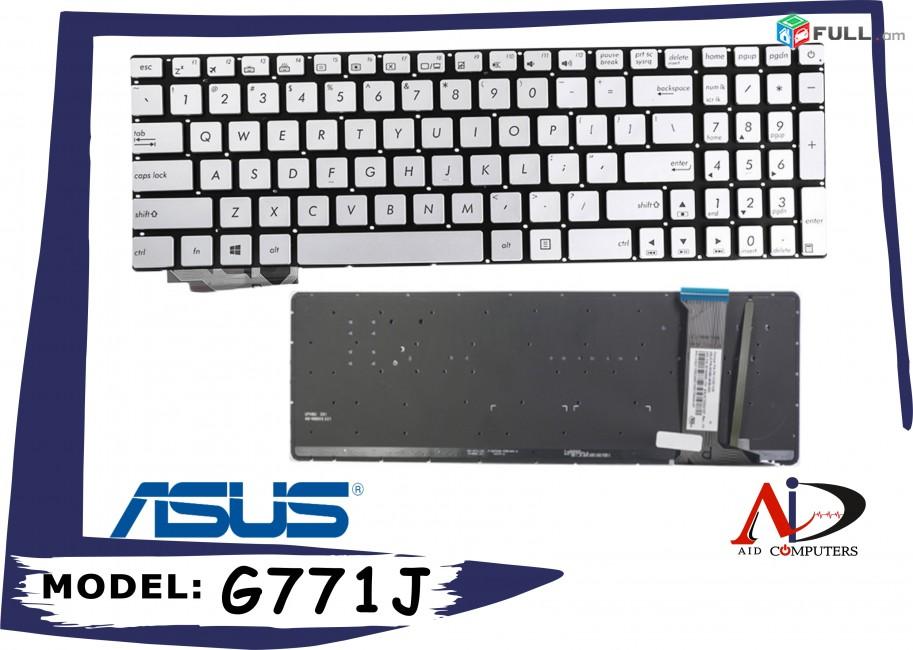 Asus keyboard g771j gl551 gl752 zx50j n552v gl771zjm g58vw gl552vw նոր