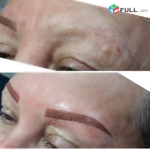 Татуаж бровей permanent make up перманентный татуаж