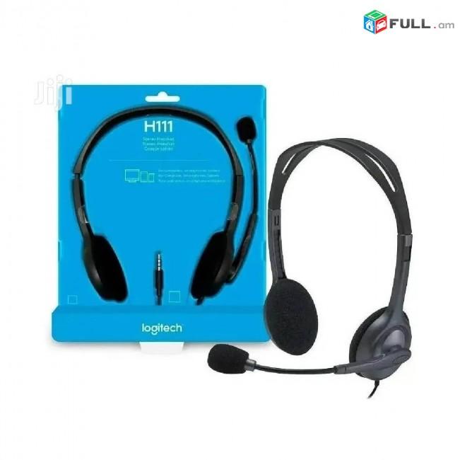 Ականջակալ Logitech H111 Наушники Headphones հարմարավետ շարժական միկրոֆոնով