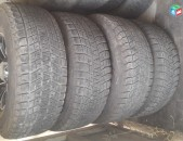 275 75 R16 275 / 75 R16 Bridgestone Blizzak անվադողեր և անվահեծեր, գերազանց վիճակ