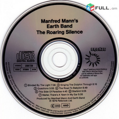 CD սկավառակներ MANFRED MANNS (4) - օրիգինալ տարբեր տեսակի ալբոմներ