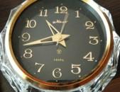 Настольные часы МАЯК в хрустальном корпусе. Սովետական սեղանի ժամացույցը