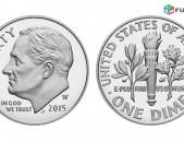 10 центов - Соединенные Штаты Америки - ԱՄՆ 10 ցենտ