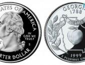 25 центов (квотер) 1999 США Джорджия, P - 25 cents - ԱՄՆ 25 ցենտ