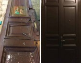 Մուտքի եվ միջսենյակային  դռների վերանորոգում։ Ցանկացած տեսակի տան կահույքի վերանորոգում: