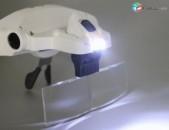 Ակնոց-լուպա, aknoc-lupa 1x 3.5x zoom Led լույսով
