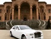 Rolls Royce Phantom harsanekan meqenaneri vardzuyt harsanyac meqenaner wedding car in Armenia car rental rent a car avto vardzuyt avto prokat prakat
