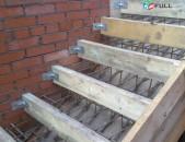 Մոնոլիտ աստիճանների կառուցում, монолитные лестницы, astichanneri karucum