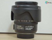 Canon EF-S 15-85mm f/3.5-5.6 IS USM Lens. + filter. + blenda.