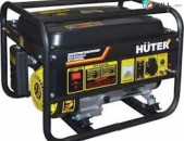 Վարձով Генератор бензиновый Huter DY4000L, 3,3 кВт, 1,2 л/ч, бак 15 л, 45 кг