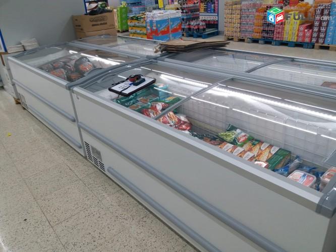 Սառնարաններ նախատեսված Սուպերմարկետների խանութների համար Холодильное Оборудованиеsarnaran