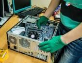 Համակարգիչների, նոթբուքերի, նեթբուքերի վերանորոգում անվճար այցելություն