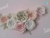 Декорирование стен цветами