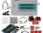 Programmator Tl866II плюс + 13 original adapters Նոր + ARAQUM