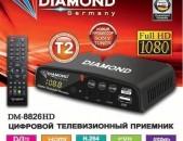 DVBT2 tvayin sarq, tv tuner DIAMOND DM 8826HD + անվճար առաքում և տեղադրում