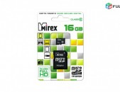 16GB chip Mirex micro SD Card Class 10 + Adapter micro chip (Նոր) + araqum