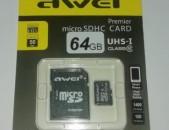 64Gb micro SDHC CARD AWEI Premier (UHS-1 class10) + araqum