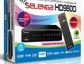 DVBT2 tvayin sarq SELENGA HD980D + անվճար առաքում և տեղադրում