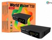 DVBT2 թվային ընդունիչ World Vision T-58 + անվճար առաքում և տեղադրում