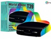 DVBT2 թվային ընդունիչ World Vision T39 + անվճար առաքում և տեղադրում