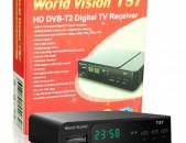 DVBT2 ընդունիչ WORLD VISION T57 + անվճար առաքում և տեղադրում