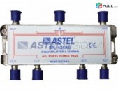 TV Splitter 5-2500Mhz Astel SPL 1X6 WB - 6 hat TV hamar + araqum