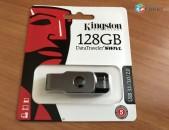 Original Kingston DataTraveler SWIVL 128gb Usb 3.0 (vakuum tupov) + araqum