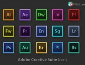 Photoshop, capture one, adobe premiere, after effects և այն