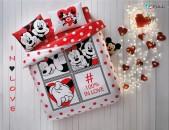 Մանկական երկտեղանի հավաքածու - Disney Minnie & Mickey Dotty