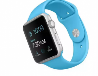GT Computers: Սմարթ ժամացույց Apple Watch Sport 42mm Silver Aluminum / Blue Band