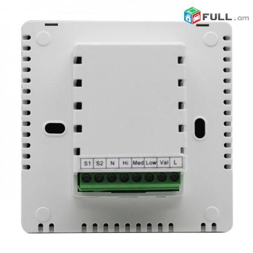 Термостат Hotowell для фанкойла с сенсорным экраном FCU