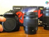 Canon rebel t5i EOS 700d SLR Camera with EF-S 18-55mm f / 3.5-5.6 IS stm Lens.