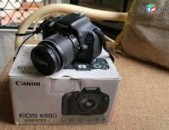Canon EOS 600D DSLR Camera (Body with EF-S 18-55 mm IS II Lens) (Black) տուփով.