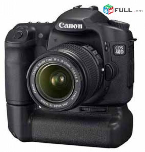Canon EOS 40D.+Canon Zoom Lens EF-S 18-55mm 1:3.5-5.6.+Orginal battary grip.