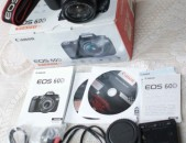 Canon EOS 60D 18.0MP Digital SLR Camera 18-55 is ii lens. Tupov amen inchov.