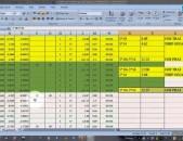 Excel das@ntacner Excel  դասընթացներ