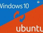 Windows XP, Vista, 7, 8.1, 10 և Ubuntu 19.04 ՕՀ-երի տեղադրում և վաճառք։