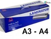 Լամինացիայի սարք A4 A3 - Laminacia sarq - Ламинатор - ламинация - laminator sarq PLENKA