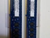 DDR3 2GB 1333MHz NANYA / Ճապոնյա / Ներկրողից,  նոր և 6 ամիս երաշխիք հիշողություն RAM OZU
