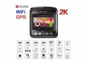 Camera Ruccess COMBO Full HD 2K 1296P 1080P wifi gps регистратор 2 объектив 2in1